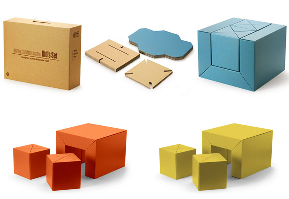 Kid S Set Mobilier En Carton Pour Enfants Now For Kids By E Glue
