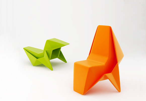 Paper Chair Origami Inspired For Kids