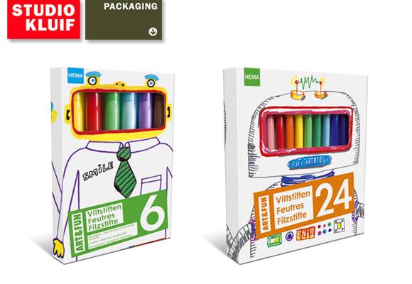 STUDIO KLUIF for HEMA // fun felt-tip pens for kids