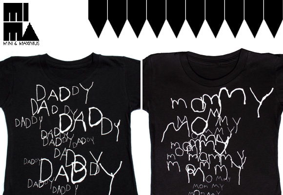MINI & MAXIMUS :: collection uno - daddy & mommy tees for kids