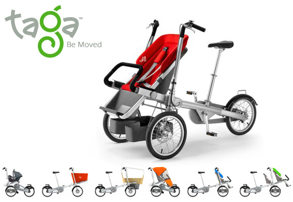 TAGA // carrier bicycle & luxury baby stroller at a time