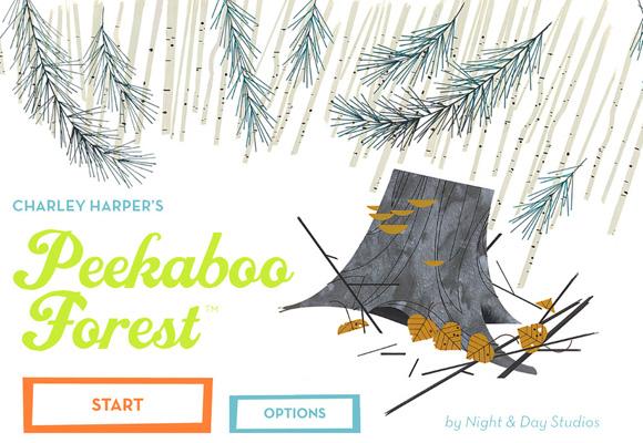 NIGHT & DAY STUDIOS + CHARLEY HARPER // peekaboo forest app