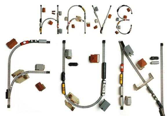 BUREAU BRUNEAU // train set typography