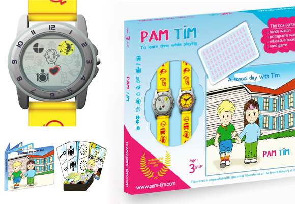 PAM TIM // unique time-learning picto watch for kids