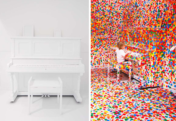 YAYOI KUSAMA // the obliteration room by kids