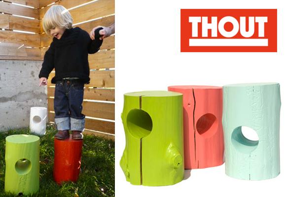 color wooden stumps for kids room