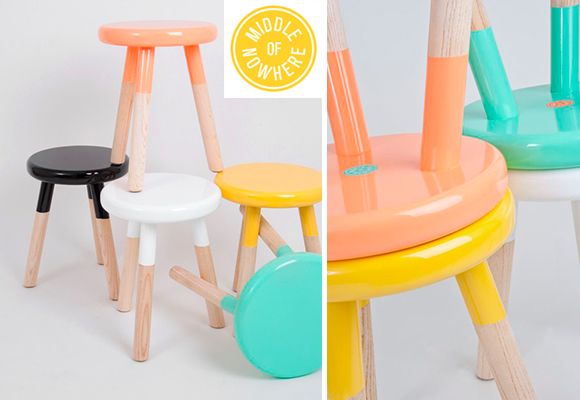 MIDDLE OF NOWHERE colorful Malmo children stools