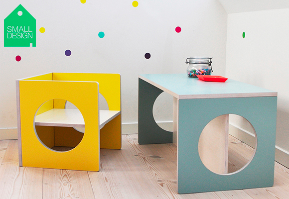 kube children furniture collection - table, desk, bench and chair
