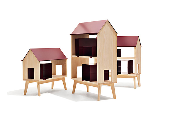 Library, house-shaped furniture for children's room by Thomas Bentzen