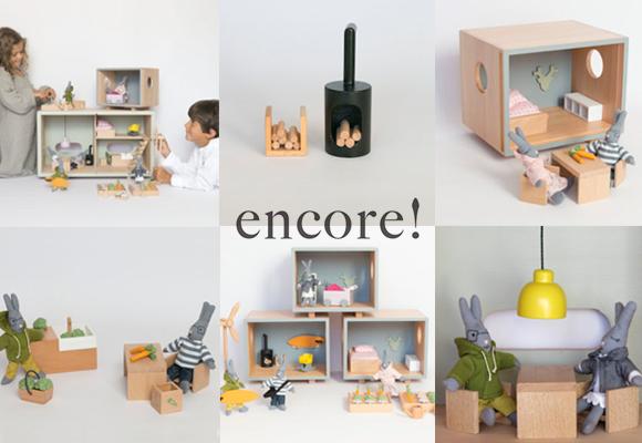 Juguetes eco diseñados Encore ! por Nina y Lionel ASTRUC