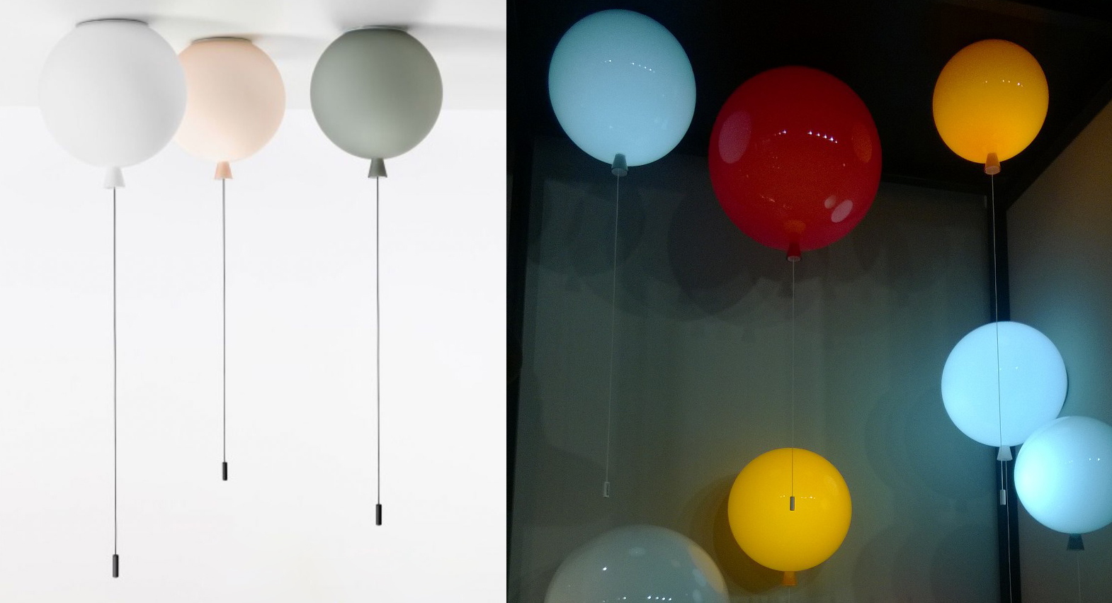Ballon Memory lamp for nursery or kids room by Boris Klimek