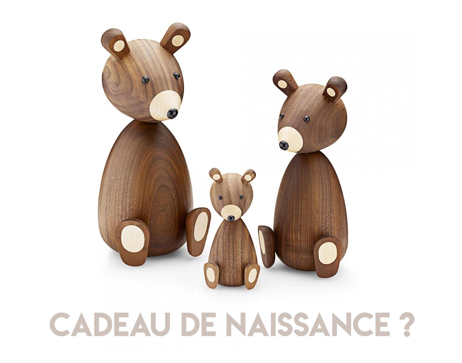 Cadeau de Naissance Original - Ourson en bois Lucie Kaas