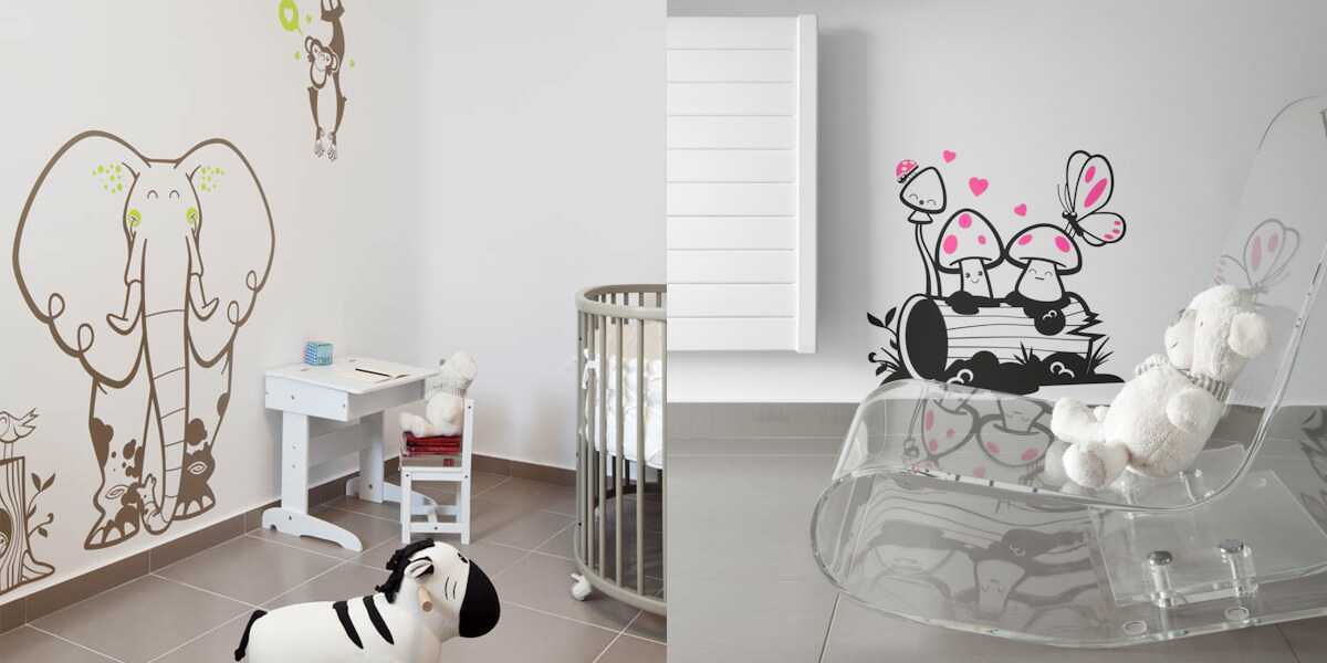 e-glue elephant wall decal for baby room